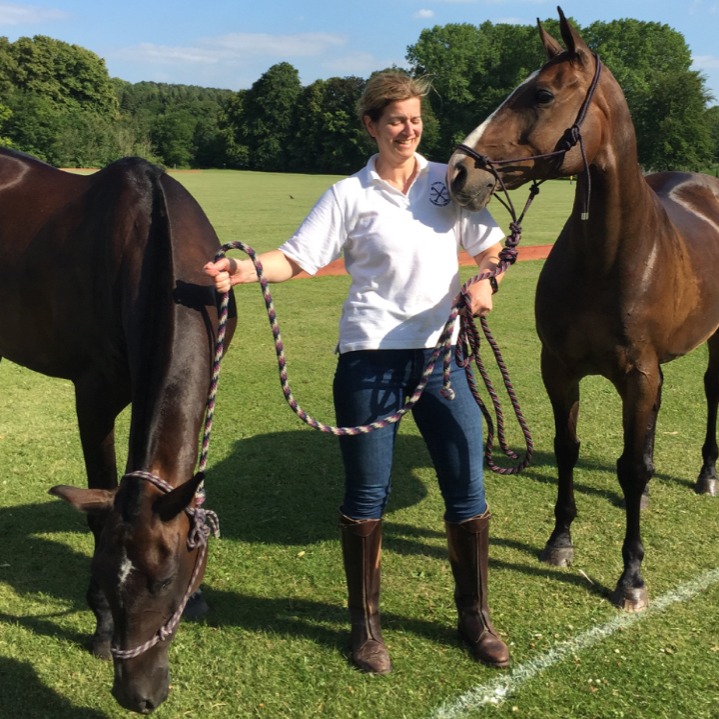 Lisa Ives with horses
