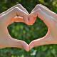 hands in shape of heart